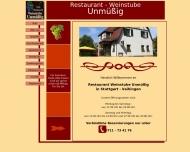 Bild Webseite Weinstube Unmüßig Inh. Panzenböck Günter Stuttgart