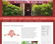Bild Webseite Weinstube Reblaus Berlin