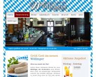 Bild Webseite Wöllinger Gastro München
