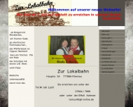 Bild Webseite Zur Lokalbahn Rheinau