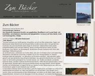 Bild Webseite Restaurant Zum Bäcker Hamburg