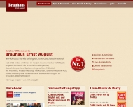 Bild Webseite Brauhaus Ernst August Hannover