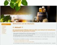 Bild Webseite Getränkemarkt & Zeltverleih WILHELM Fischbachtal