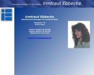 Bild Webseite I. Ebbecke Berlin