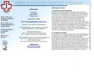 Website Abels Peter Psychotherapeut Heilpraktiker
