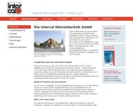 Website Intercal Wärmetechnik