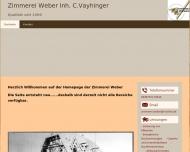 Website Weber Friedrich  Inh. Christoph Vayhinger Zimmerei