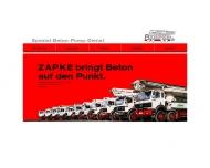 Bild Zapke Beton-Pumpdienst KG