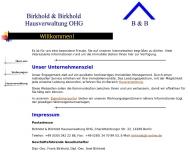 Website Birkhold & Birkhold Hausverwaltung