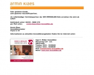 Website Armin Klaes Immobilien IVD