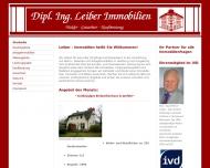 Bild Webseite Dipl.Ing. Leiber Immobilien Hamburg