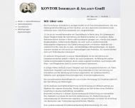 Bild Webseite Kontor Immobilien und Anlagen Berlin