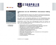 Bild Webseite METROPOLIS INTERNATIONAL HOLDING Berlin