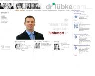 Bild Webseite Dr. Lübke München