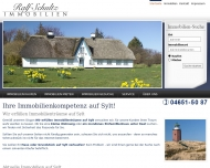 Bild Webseite Schultz Ralf Versicherungen und Immobilien Sylt-Ost
