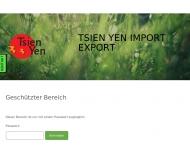 Bild Webseite TSIEN YEN Import-Export Wedel