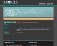 Bild Webseite Männich-Industrievertretung Aichach