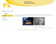 Bild Webseite Brüniger & Co. Engineering München