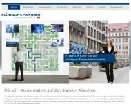 Bild Webseite Immobilienkontor Flörsch & Partner München