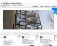 Bild Webseite Künstlin Ingenieure Karlsruhe