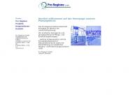 Bild Webseite Pro Regione Flensburg