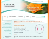 Bild Webseite AMARA Schulen für Naturheilkunde u. Heilpraxis Hamburg