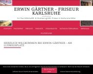 Website Friseur Erwin Gärtner Karlsruhe