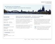 Bild Webseite Rechtsanwälte Goost & Partner Köln