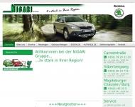 Website Skoda Vertragshändler Nigari AH