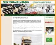 Website Paul Weidlich Lübeck