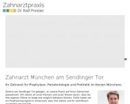 Bild Webseite Preisler Ralf Dr.med.dent. München