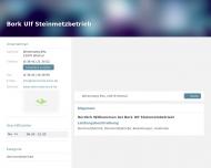 Bild Webseite Bork Ulf Steinmetzbetrieb Glasin