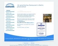 Bild Webseite Taverna Odyssee Berlin