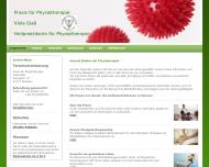 Bild Webseite Glaß Viola Praxis für Physiotherapie Dresden