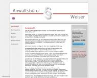 Bild Webseite Weiser Antje F. Rechtsanwältin Berlin