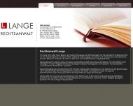 Bild Webseite Rechtsanwalt Uwe Lange Halle