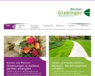 Website Blumen Grabinger