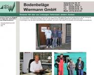 Website BBW Bodenbeläge Wiermann