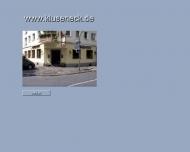 Bild Webseite Kluseneck Dortmund