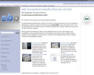 Website ebb Ersatzbrennstoffe Bremen