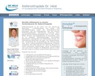 Website Dr.med. Held Fachzahnarzt für Kieferorthopädie in Magdeburg