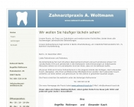 Bild Webseite Woltmann Angelika Zahnarztpraxis Berlin