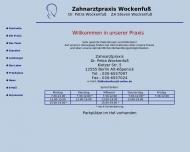 Bild Webseite Wockenfuß Petra Dr. , Steven Zahnarztpraxis Berlin