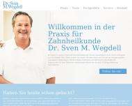 Bild Webseite Dr. Sven M. Wegdell Zahnarzt | Praxis für Zahnheilkunde Hamburg