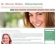 Bild Webseite Skibba Werner Dr. Zahnarzt Köln