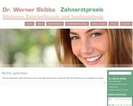 Website Skibba Werner Dr. Zahnarzt