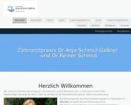Bild Webseite Schmid Reiner Dr. , Schmid-Gassner Anja Dr. Zahnärzte München