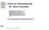 Bild Webseite Schneider Klaus Dr.med.dent. Zahnarzt München