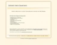 Bild Webseite Sauermann Heinz Zahnarzt München