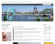 Bild Webseite Brakonier Frank , Schaaf Michael Dres. med. dent. Zahnarztpraxis Köln
